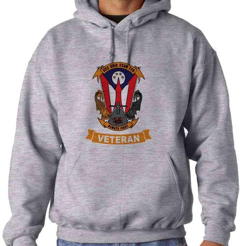 uss ohio veteran hooded sweatshirt