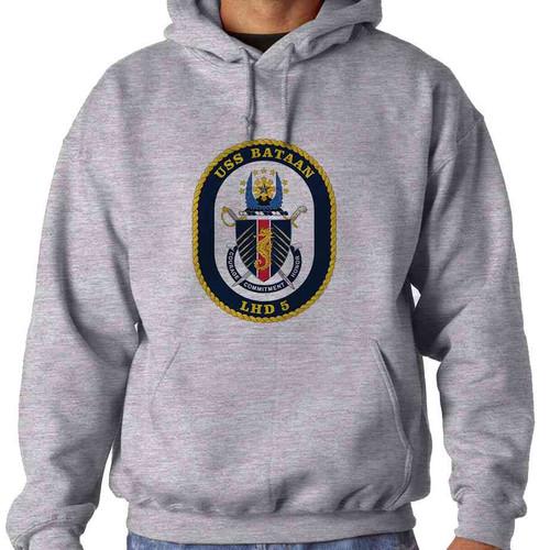 uss bataan hooded sweatshirt
