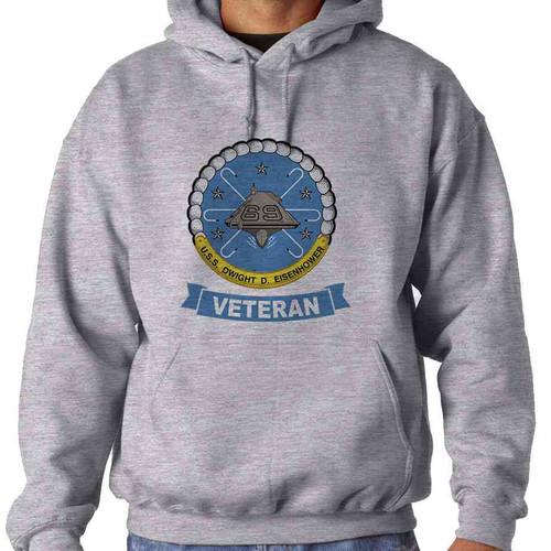 uss dwight d eisenhower veteran hooded sweatshirt