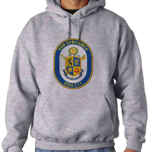 uss spruance hooded sweatshirt