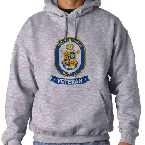 uss spruance veteran hooded sweatshirt