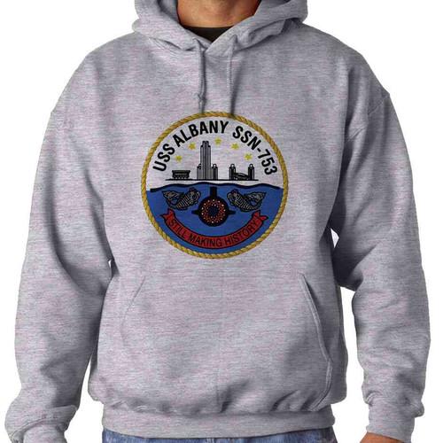 uss albany hooded sweatshirt