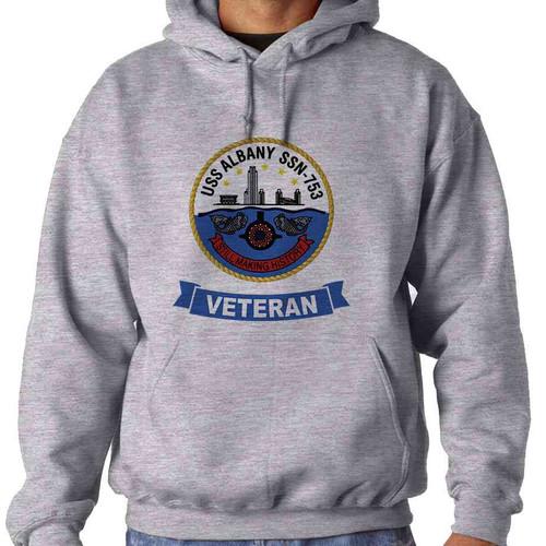 uss albany veteran hooded sweatshirt