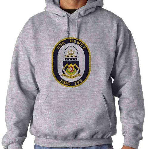 uss dewey hooded sweatshirt