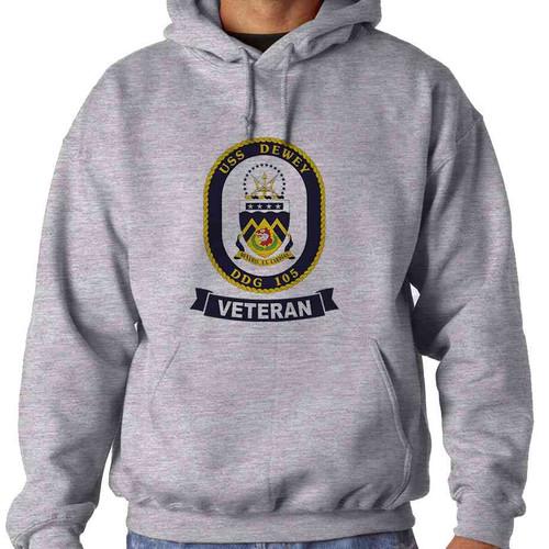 uss dewey veteran hooded sweatshirt