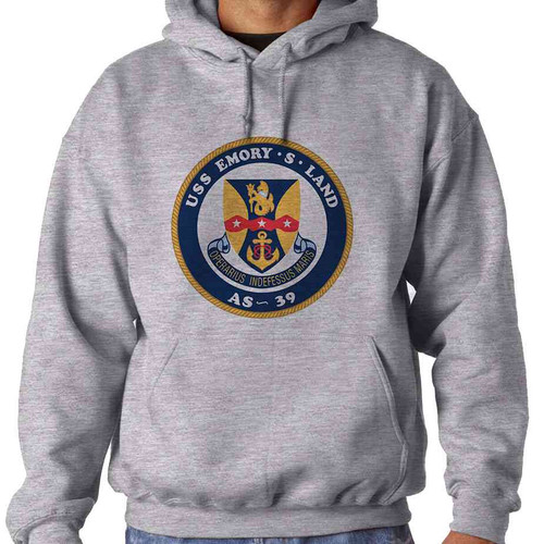 uss emory s land hooded sweatshirt