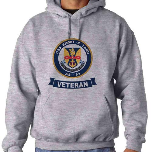 uss emory s land veteran hooded sweatshirt