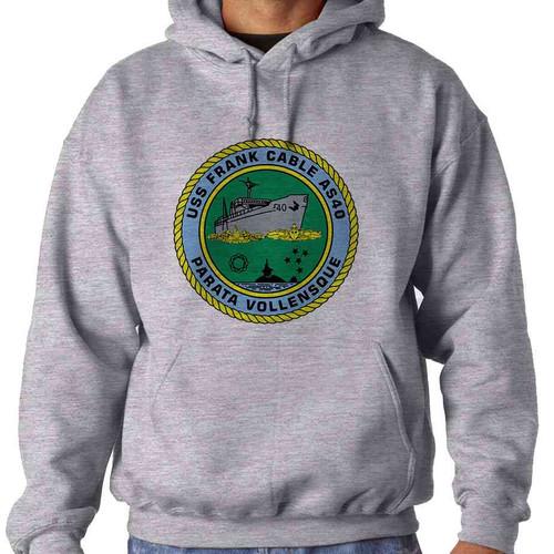 uss frank cable hooded sweatshirt