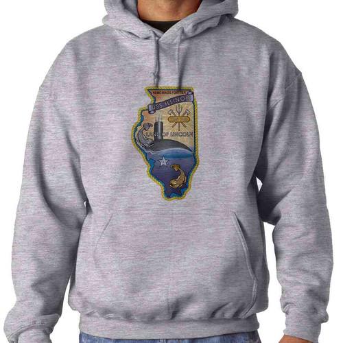 uss illinois hooded sweatshirt