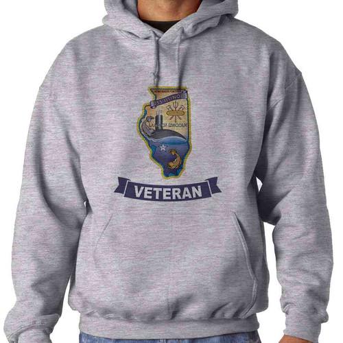 uss illinois veteran hooded sweatshirt