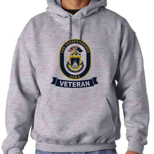 uss independence veteran hooded sweatshirt