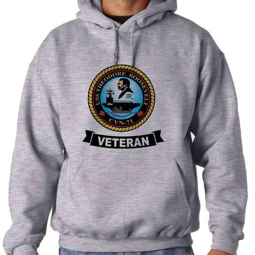 uss theodore roosevelt veteran hooded sweatshirt