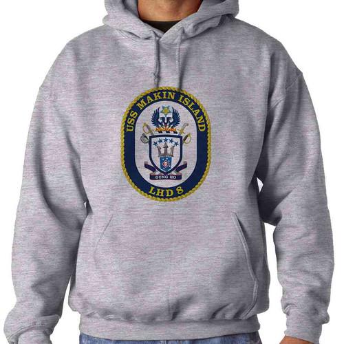 uss makin island hooded sweatshirt