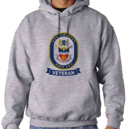 uss gridley veteran hooded sweatshirt