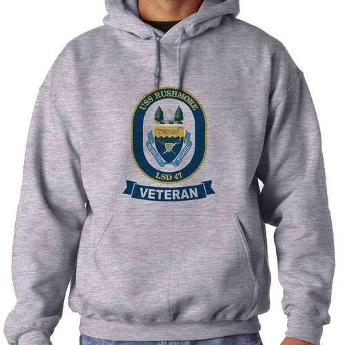 uss rushmore veteran hooded sweatshirt