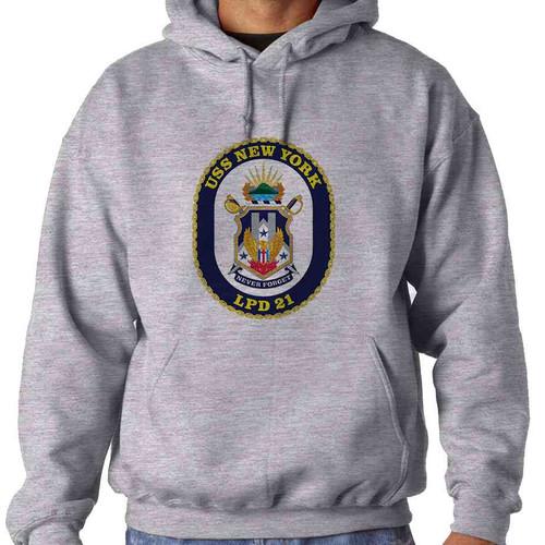 uss new york hooded sweatshirt