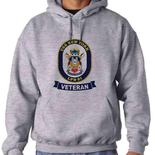 uss new york veteran hooded sweatshirt