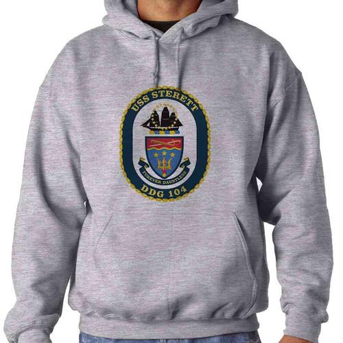 uss sterett hooded sweatshirt