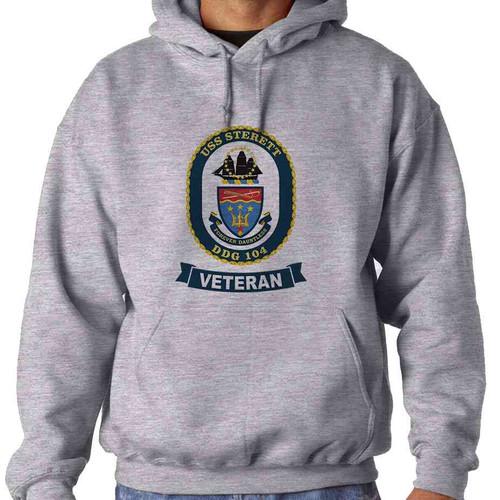 uss sterett veteran hooded sweatshirt