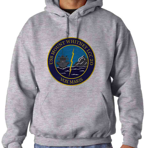 uss mount whitney hooded sweatshirt