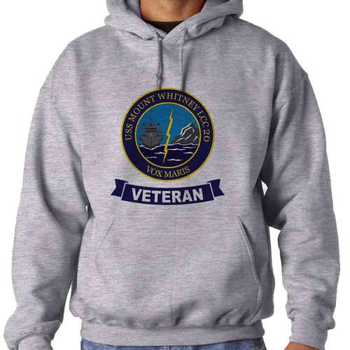 uss mount whitney veteran hooded sweatshirt