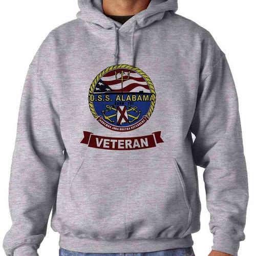 uss alabama veteran hooded sweatshirt