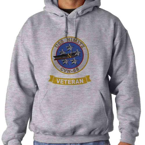 uss nimitz veteran hooded sweatshirt