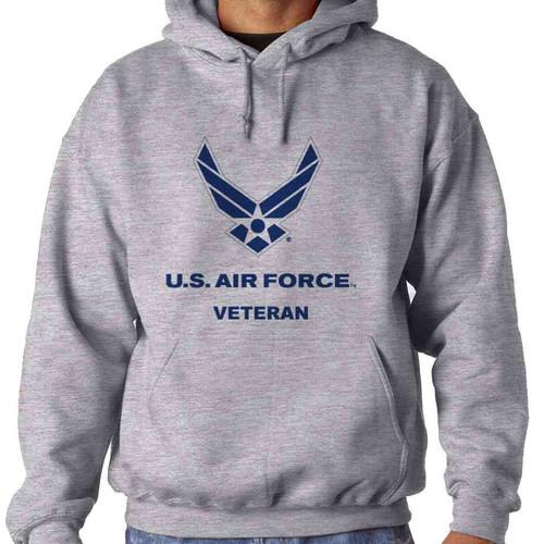 us air force veteran usaf logo grey hoodie sweatshirt officially licensed
