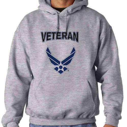 officially licensed u s air force wings veteran hooded sweatshirt