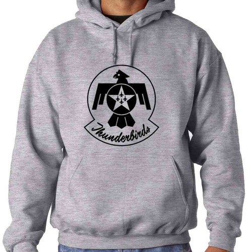 officially licensed u s air force thunderbirds black and white logo hooded sweatshirt