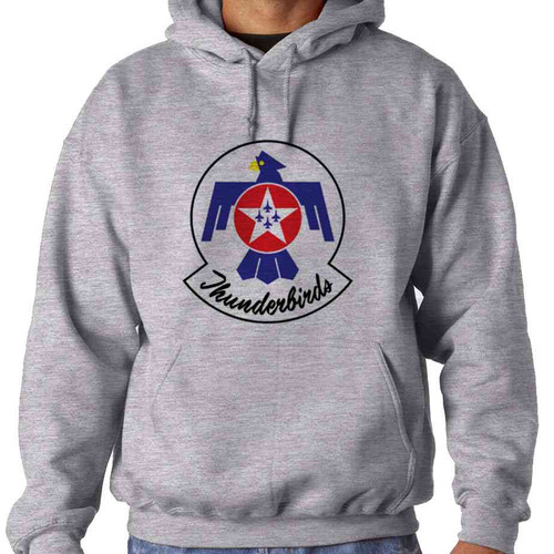 officially licensed u s air force thunderbirds color logo hooded sweatshirt