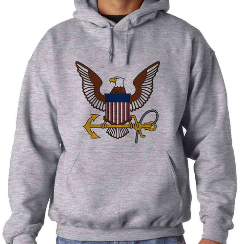 u s navy eagle and anchor hooded sweatshirt officially licensed