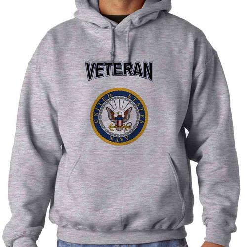 us navy veteran gold eagle seal hoodie sweatshirt officially licensed