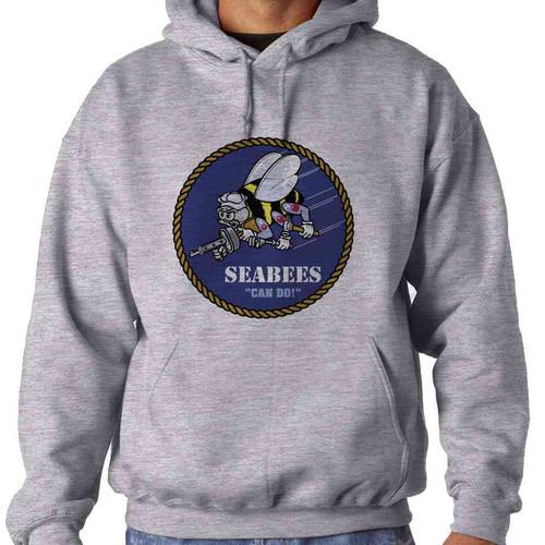 u s navy seabees hooded sweatshirt officially licensed