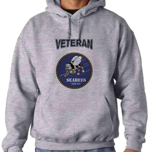 us navy veteran seabees can do veteran hoodie sweatshirt officially licensed