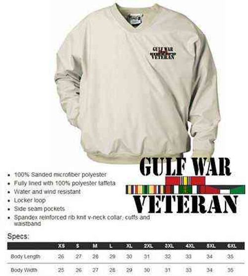 gulf war veteran microfiber windbreaker