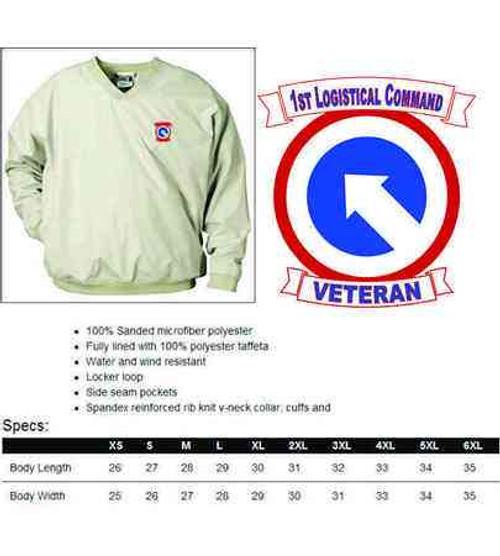 army 1st logistical command veteran microfiber windbreaker