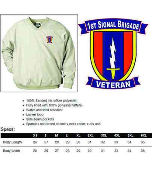 army 1st signal brigade veteran microfiber windbreaker