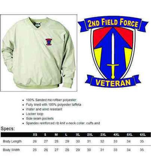 army 2nd field force veteran microfiber windbreaker