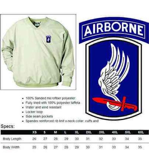 army 173rd airborne brigade microfiber windbreaker