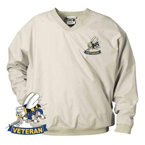 navy seabees veteran microfiber windbreaker