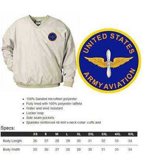 u s army aviation microfiber windbreaker