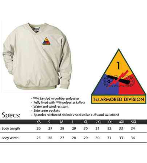 1st armored division microfiber windbreaker