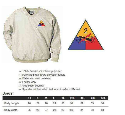 army 2nd armored division microfiber windbreaker
