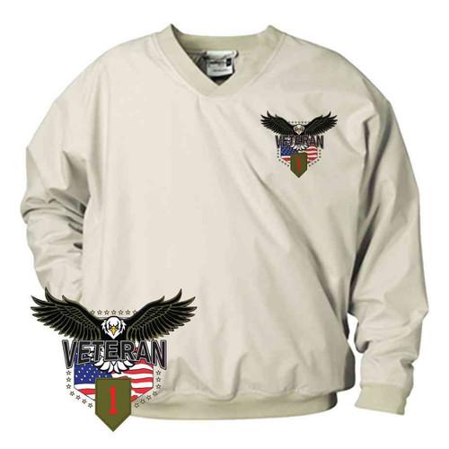 1st infantry division w eagle microfiber windbreaker
