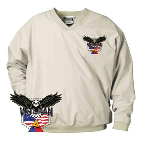 2nd armored division w eagle microfiber windbreaker