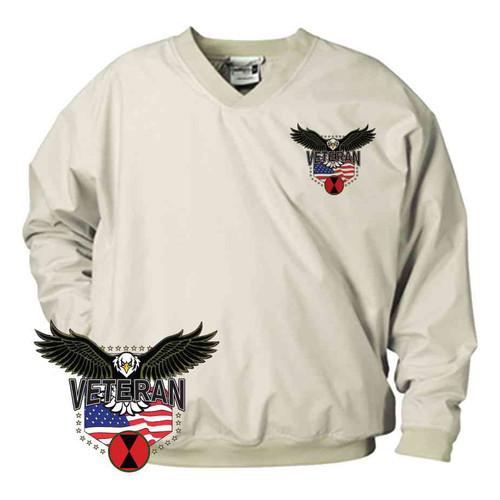 7th infantry division w eagle microfiber windbreaker