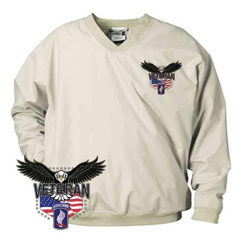 173rd airborne w eagle microfiber windbreaker