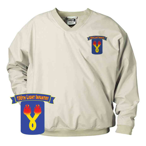 196th light infantry brigade microfiber windbreaker