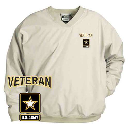 the officially licensed u s army veteran logo embroidered windbreaker